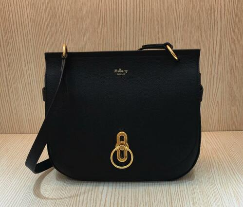 Discount Mulberry Amberley Satchel Black Small Classic Grain