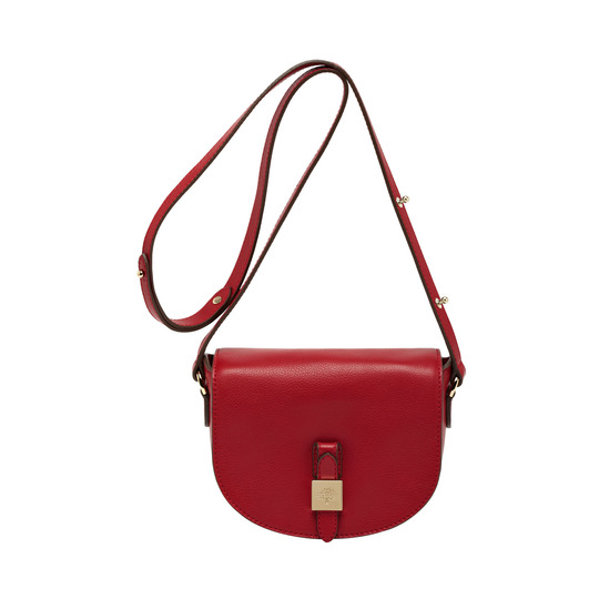 2014 Latest Mulberry Tessie Small Satchel in Poppy Red Soft Leather