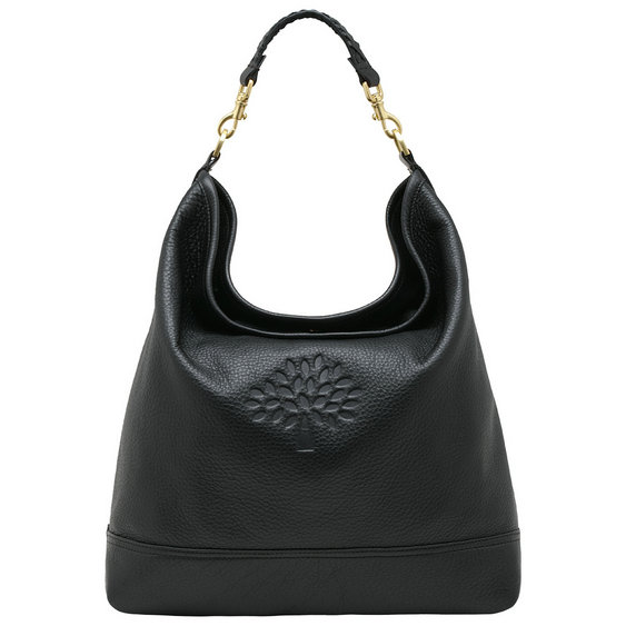 Mulberry Effie Hobo in Black Spongy Pebbled Leather