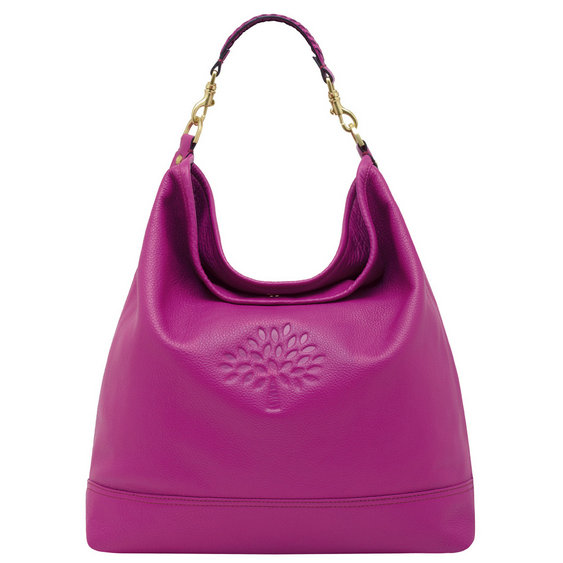 Mulberry Effie Hobo in Hot Fuchsia Spongy Pebbled Leather