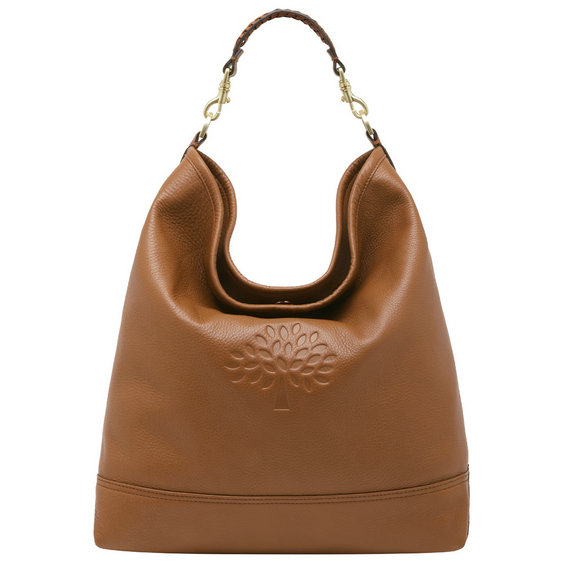 Mulberry Effie Hobo in Oak Spongy Pebbled Leather