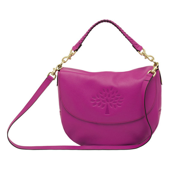 Mulberry Effie Satchel in Hot Fuchsia Spongy Pebbled Leather