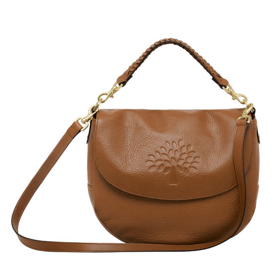 Mulberry Effie Satchel in Oak Spongy Pebbled Leather