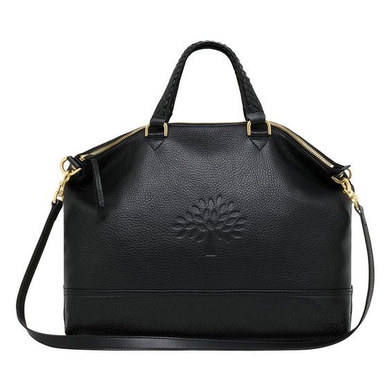 Mulberry Effie Tote in Black Spongy Pebbled Leather