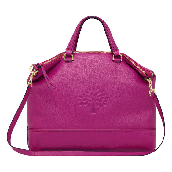 Mulberry Effie Tote in Hot Fuchsia Spongy Pebbled Leather