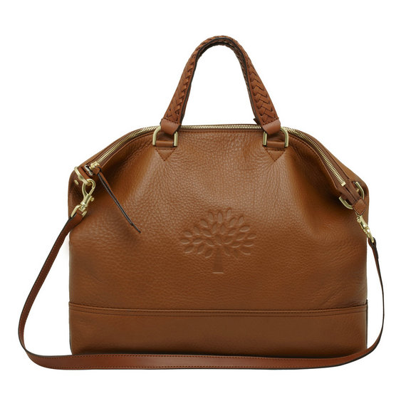 Mulberry Effie Tote in Oak Spongy Pebbled Leather