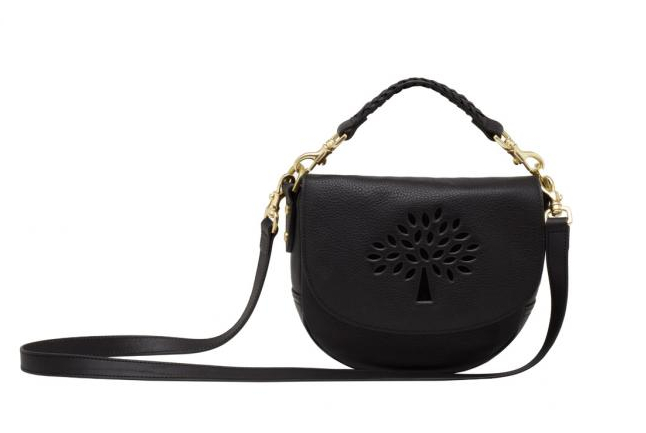 Mulberry Small Effie Satchel in Black Spongy Pebbled Leather