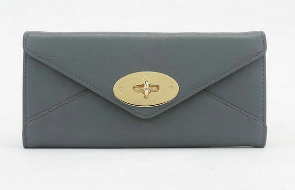 Mulberry Envelope Wallet in Grey Classic Calf