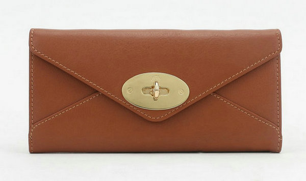 Mulberry Envelope Wallet in Oak Classic Calf
