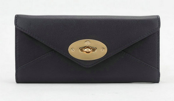 Mulberry Envelope Wallet in Dark Purple Classic Calf