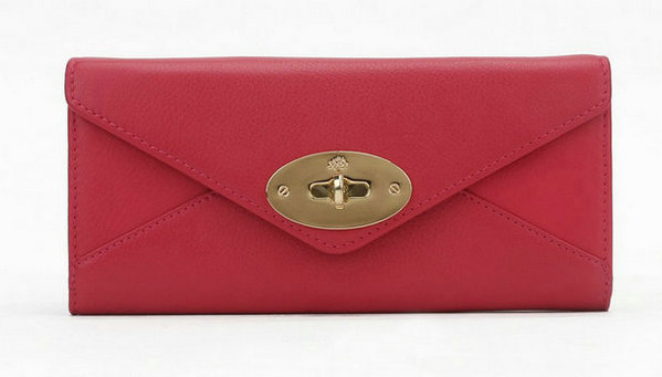 Mulberry Envelope Wallet in Rose Classic Calf