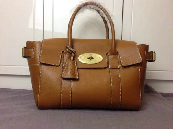 2014 Latest Mulberry Bayswater Buckle Tote in Oak Natural Leather