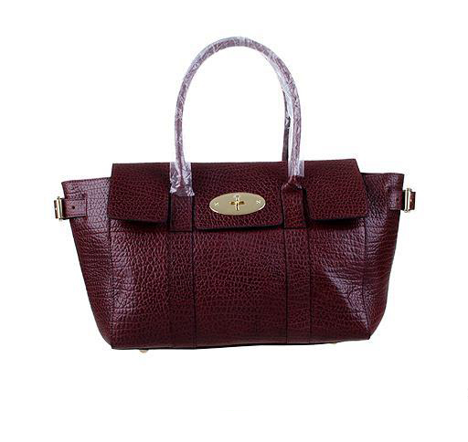 2014 Latest Mulberry Bayswater Buckle Bag in Oxblood Shrunken Calf