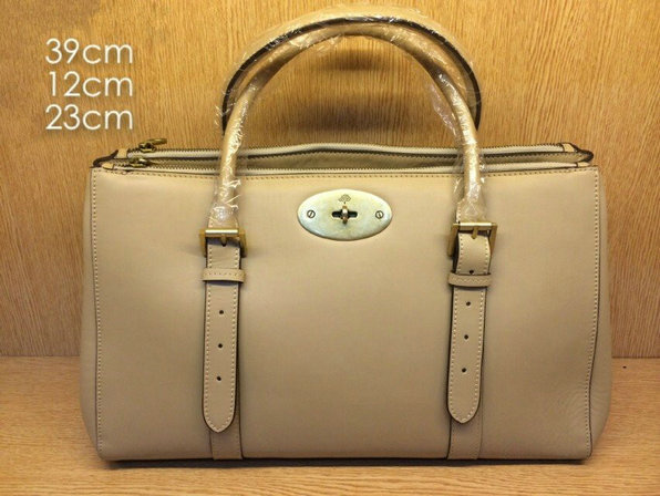 2014 Mulberry Bayswater Double Zip Tote in Apricot Leather