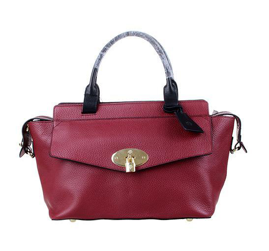 2014 Latest Mulberry Blenheim Tote in Oxblood Soft Grain Leather