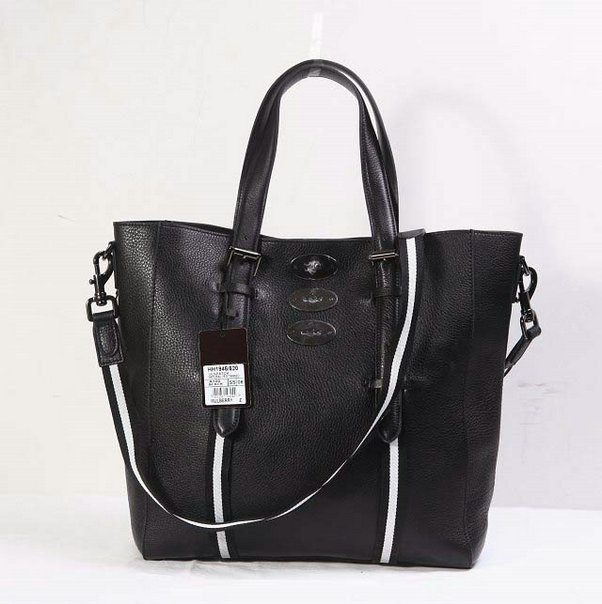 2014 New Mulberry Brynmore Tote in Black Soft Grain Leather