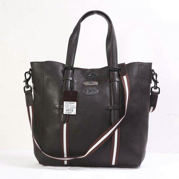2014 New Mulberry Brynmore Tote in Chocolate Soft Grain Leather