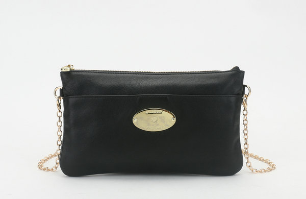 2014 New Mulberry Leather Clutch Wallet 8908 in Black