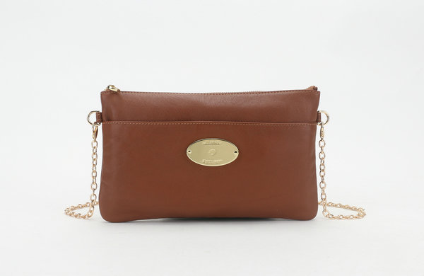 2014 New Mulberry Leather Clutch Wallet 8908 in Oak
