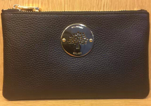 2014 Mulberry Daria Solf Leather Pouch in Black