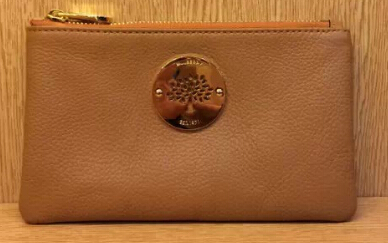 2014 Mulberry Daria Solf Leather Pouch in Deer Brown