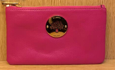2014 Mulberry Daria Solf Leather Pouch in Fuchsia