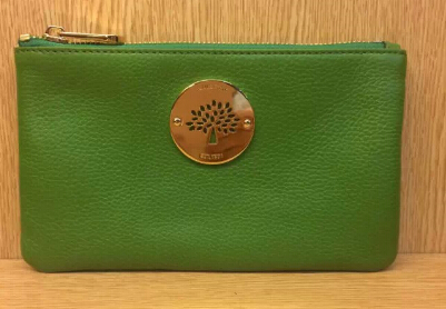 2014 Mulberry Daria Solf Leather Pouch in Green
