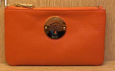 2014 Mulberry Daria Solf Leather Pouch in Orange