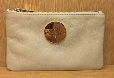 2014 Mulberry Daria Solf Leather Pouch in White