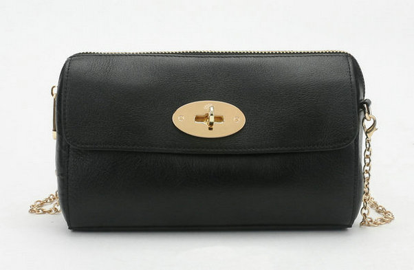 2014 New Mulberry Del Rey Shoulder Bag 8904 in Black Leather