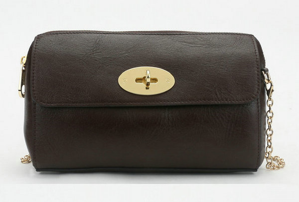 2014 New Mulberry Del Rey Shoulder Bag 8904 in Chocolate Leather