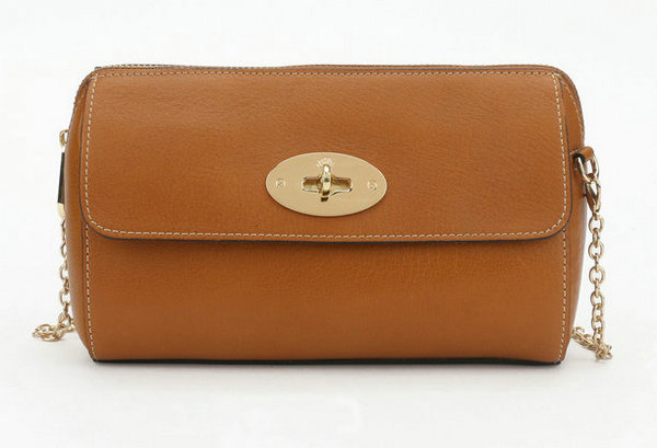 2014 New Mulberry Del Rey Shoulder Bag 8904 in Oak Leather