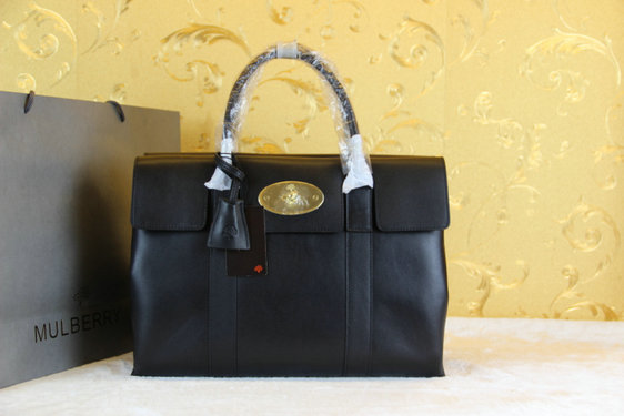 Mulberry Double Sided Bayswater Tote in Black Leather