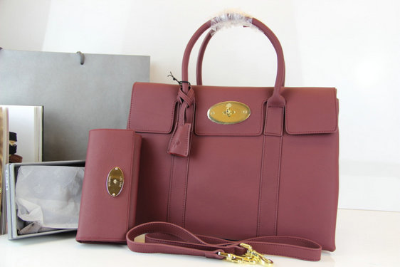 Burgundy Mulberry Double Sided Bayswater Tote Bag+Wallet
