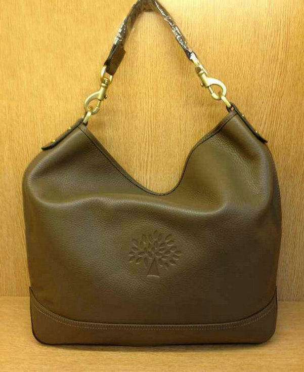 Mulberry Effie Hobo in Grey Spongy Pebbled Leather