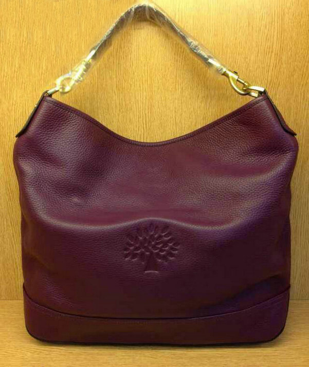 Mulberry Effie Hobo in Purple Spongy Pebbled Leather