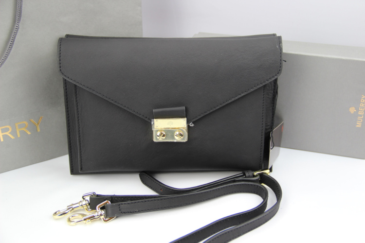 Mulberry Kensal Shoulder Bag in Black Leather