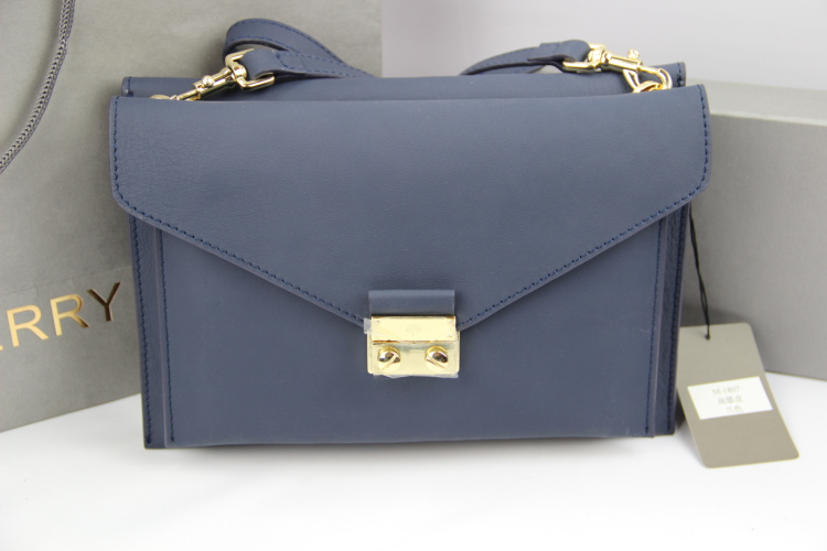 Mulberry Kensal Shoulder Bag in Navy Blue Leather