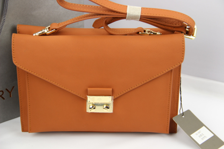 Mulberry Kensal Shoulder Bag in Ginger Leather