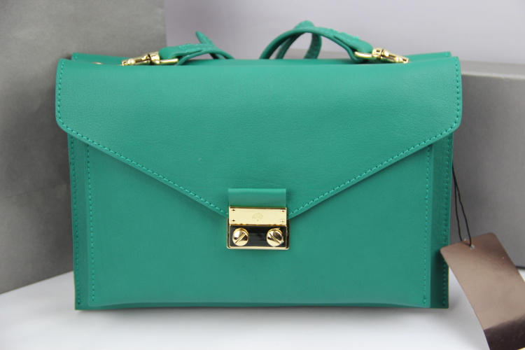 Mulberry Kensal Shoulder Bag in Green Leather