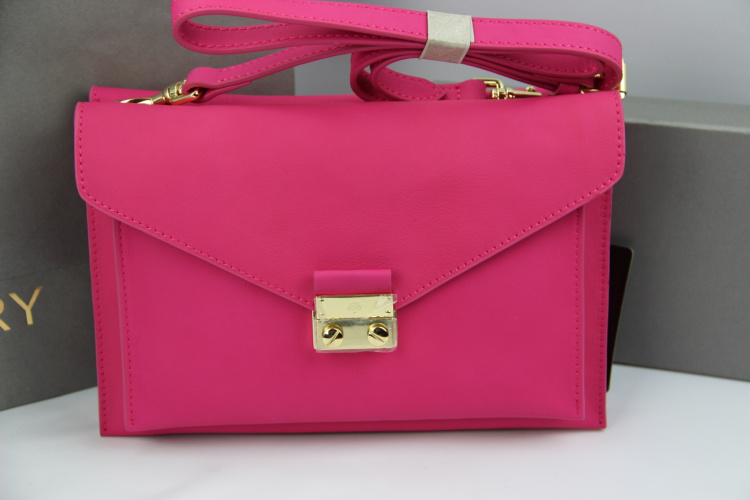 Mulberry Kensal Shoulder Bag in Hot Pink Leather