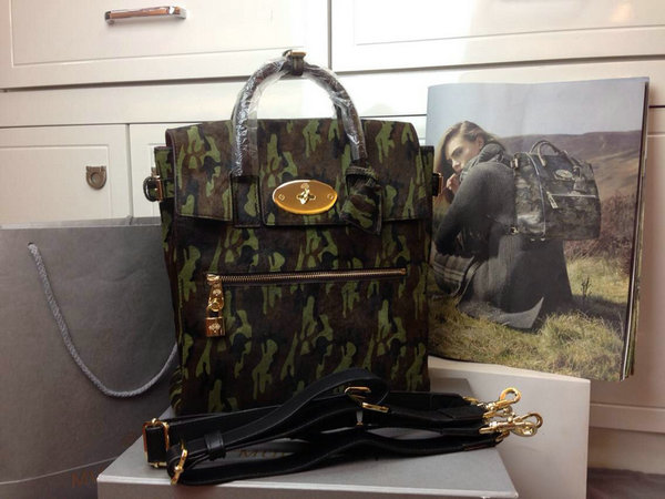 2014 Autumn/Winter Mulberry Large Cara Delevingne Bag Khaki Camouflage Haircalf