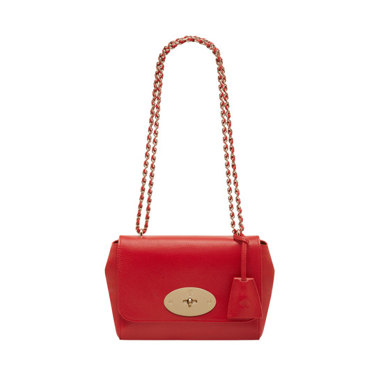 2014 Mulberry Lily Bright Red Shiny Goat Leather