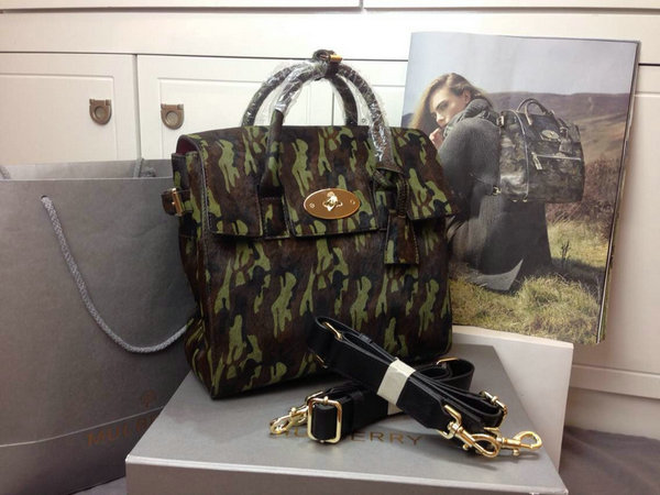 2014 Autumn/Winter Mulberry Cara Delevingne Bag Khaki Camouflage Haircalf