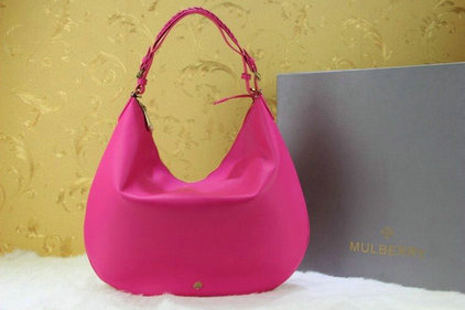 2014 New Mulberry Pembridge Hobo in Mulberry Pink Soft Leather