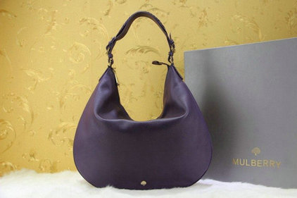 2014 New Mulberry Pembridge Hobo in Purple Soft Leather