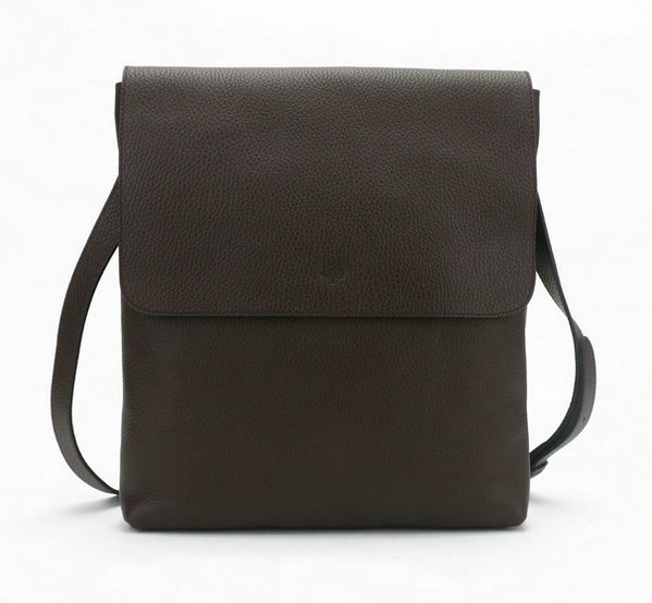 2014 New Mulberry Reporter Cross-Body Bag with Flap Chocolate Soft Grain Leather