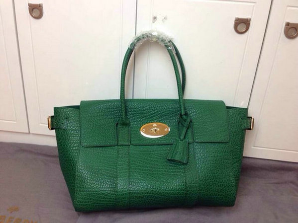 2014 Latest Mulberry Small Bayswater Buckle Bag in Green Shrunken Calf
