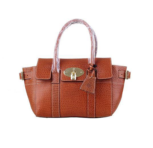 2014 Latest Mulberry Small Bayswater Buckle Bag in Oak Shrunken Calf