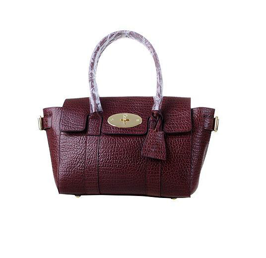 2014 Latest Mulberry Small Bayswater Buckle Bag in Oxblood Shrunken Calf